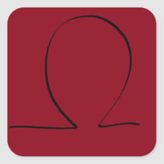 Omega Symbol CricketDiane Designer Stuff Square Sticker
