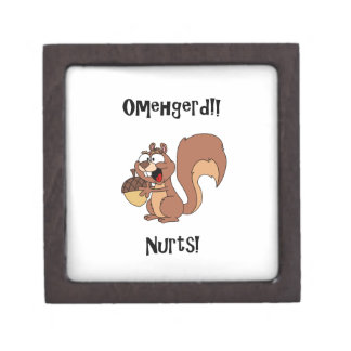Omehgerd Nurts! Squirrel (Oh My God, Nuts) Jewelry Box