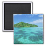 Omekang Islands, Rock Islands, Palau, Micronesia 2 Inch Square Magnet