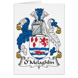O'Melaghlin Family Crest Greeting Card