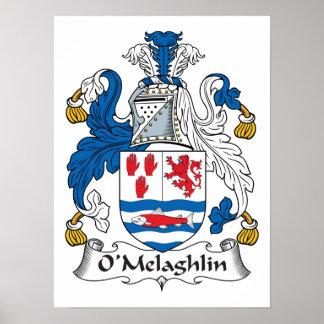O'Melaghlin Family Crest Posters