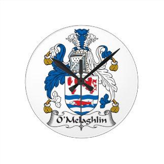 O'Melaghlin Family Crest Wallclock