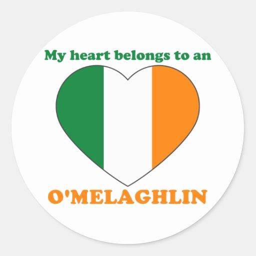 O'Melaghlin Round Stickers
