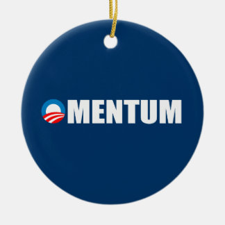 OMENTUM Double-Sided CERAMIC ROUND CHRISTMAS ORNAMENT