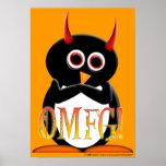 OMFG! funny Evil Penguin Poster