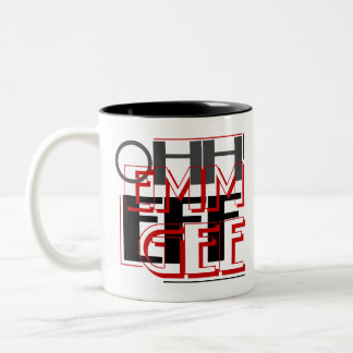 OMFG Ohh Emm Eff Gee Two-Tone Coffee Mug