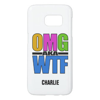 OMG aka WTF custom monogram phone cases