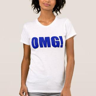 ¡OMG! azul Camiseta