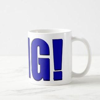 OMG! blue Classic White Coffee Mug