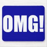 OMG! Blue Mouse pad(dark)
