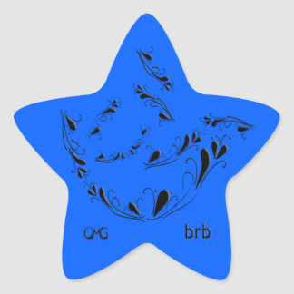 OMG! brb Star Sticker