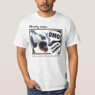 ¡OMG!  Camiseta del valor para los seres humanos Remeras