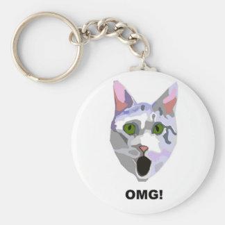 ¡OMG! ¿CAT 'qué él ha visto? ' Llaveros Personalizados