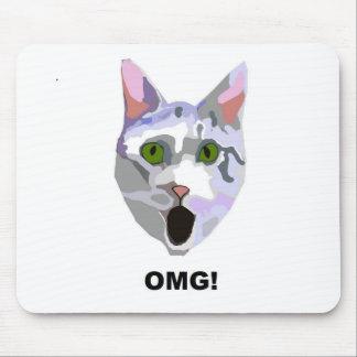 ¡OMG! ¿CAT 'qué él ha visto? ' Mouse Pads