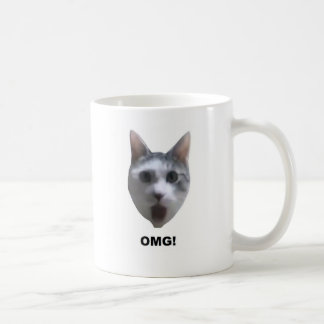 OMG CAT! (what has he seen?) Coffee Mug