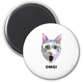 OMG! CAT 'what has he seen?' Magnet