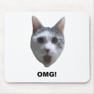 OMG CAT! (what has he seen?) Mouse Pad