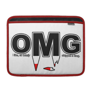 OMG Chipped Fang Macbook Sleeve