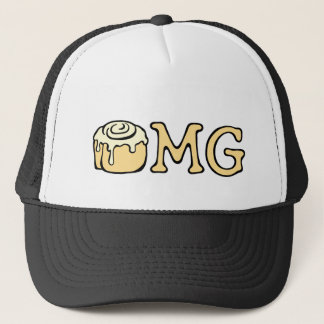 OMG Cinnamon Roll Honey Bun Cute Funny Cartoon Trucker Hat