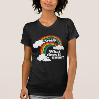 OMG Double Rainbow What Does It Mean T Shirts