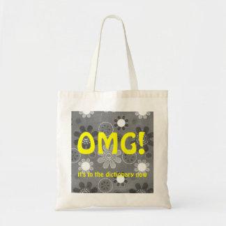 OMG English Texting Tote Bag