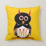 OMG Evil Penguin Throw Pillow