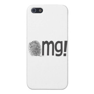 omg fingerprint text cover for iPhone SE/5/5s