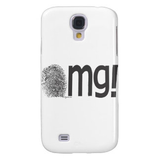 omg fingerprint text galaxy s4 cover