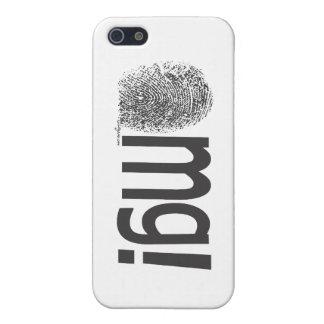 omg fingerprint text horizontal iPhone SE/5/5s cover