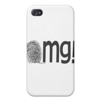 omg fingerprint text iPhone 4/4S case