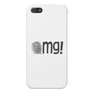 omg fingerprint text iPhone SE/5/5s cover