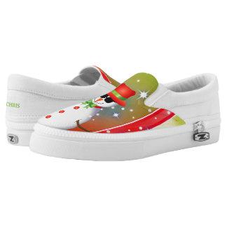 OMG! Funky Snowman Christmas2 Slip-On Sneakers