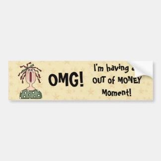 OMG! Funny Comic Girl Saying Bumper Sticker