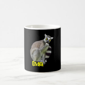 OMG Funny Lemur with Scary Eyes Coffe Mugs