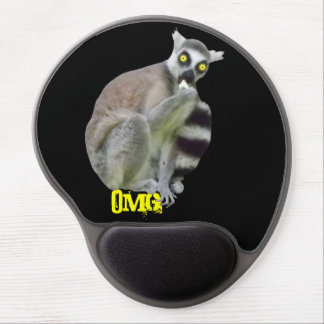 OMG Funny Lemur with Scary Eyes Mousepad Gel Mouse Pad