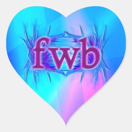 OMG! fwb Heart Sticker
