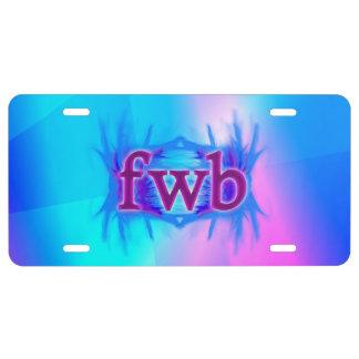 OMG! fwb License Plate