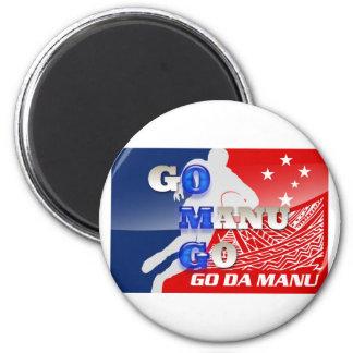 OMG - Go Manu Go 2 Inch Round Magnet
