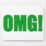 OMG green mousepad
