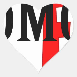 omg heart sticker