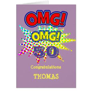 OMG! How Old Funny Comic Milestone Birthday Card