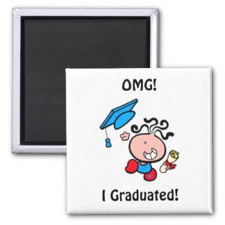OMG I Graduated cartoon Magnet