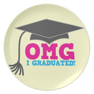 OMG I GRADUATED! great graduation gift Melamine Plate