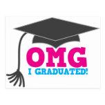 OMG I graduated Postcard