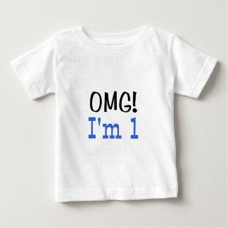 OMG I'm 1 (blue) Baby T-Shirt