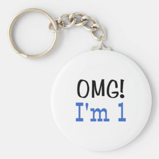 OMG I'm 1 (blue) Keychain