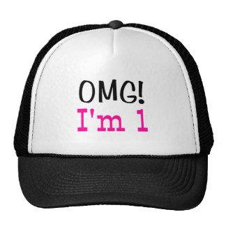 OMG I'm 1 (pink) Hats