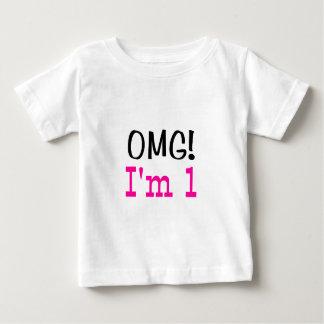 OMG I'm 1 (pink) Tee Shirt