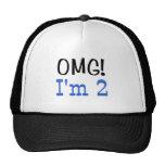 OMG I'm 2 (blue) Hats