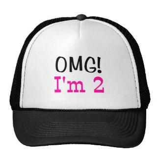 OMG I'm 2 (pink) Mesh Hat